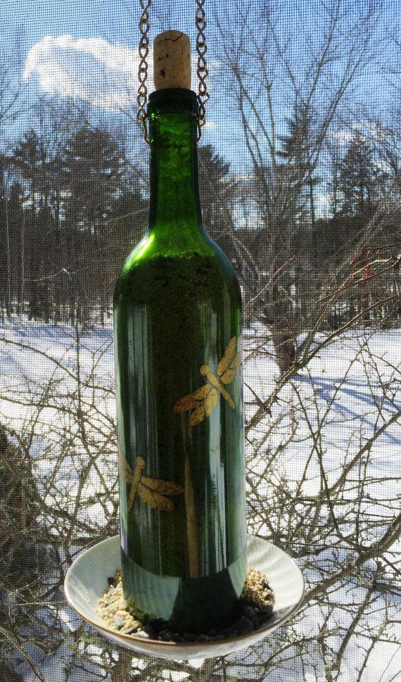 Items similar to Bird Feeder Upcycled Wine