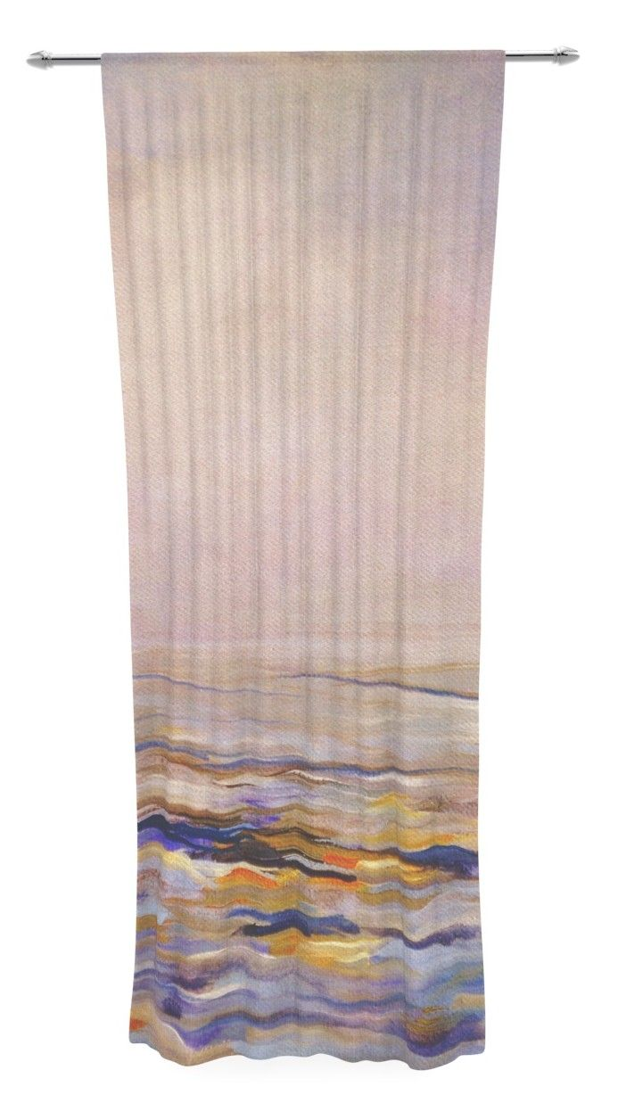 Hazy Sunrise by Iris Lehnhardt Sheer Curtain Panel