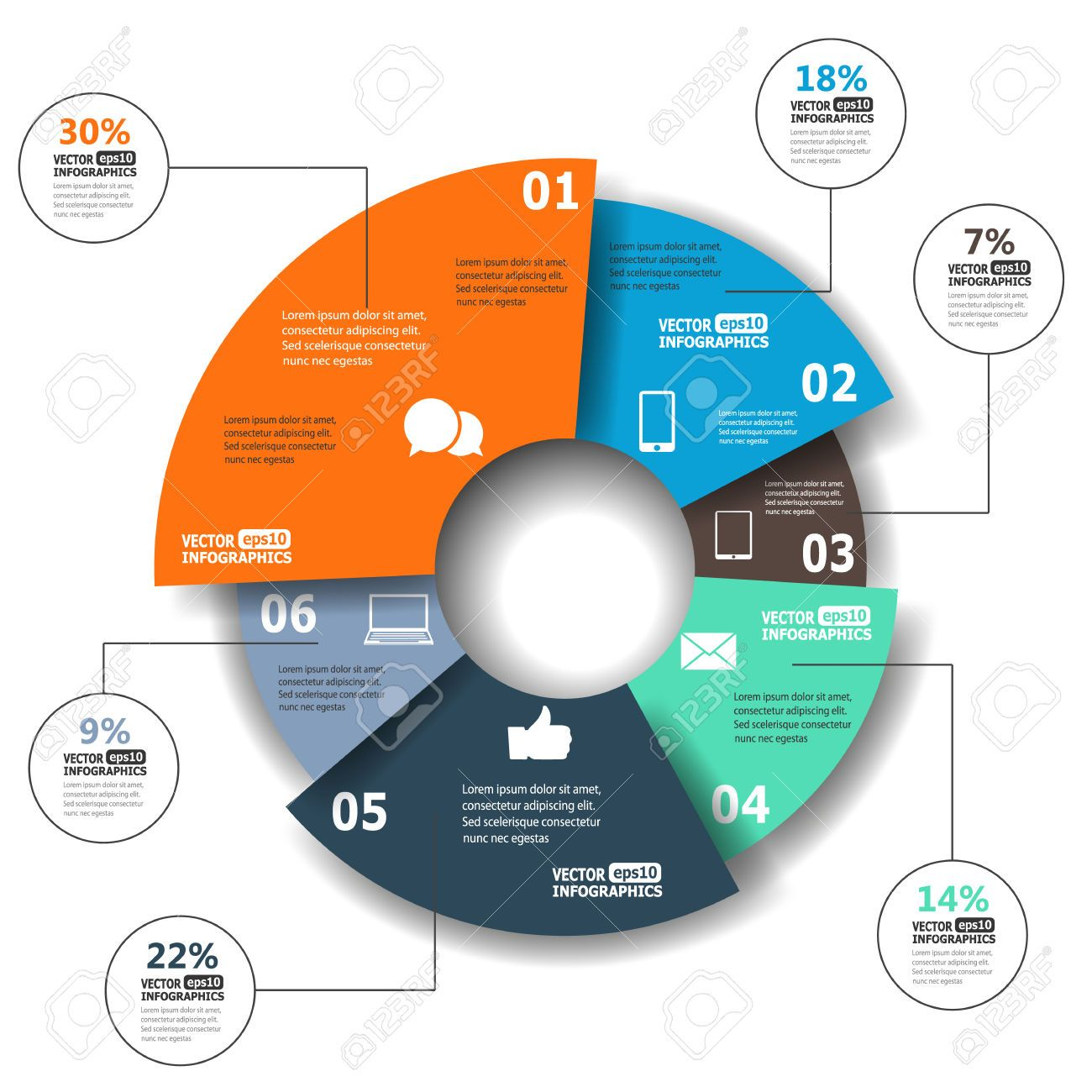 Infographic pie chart gallery design pinterest pie charts and pie chart modern paper infographics in a pie chart for web banners mobile applications layouts etc nvjuhfo Choice Image