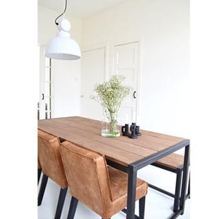 Rodeo stoelen cognac van be pure home huis pinterest eettafel rodeo en eigentijds - Buffeteetkamer ontwerp ...