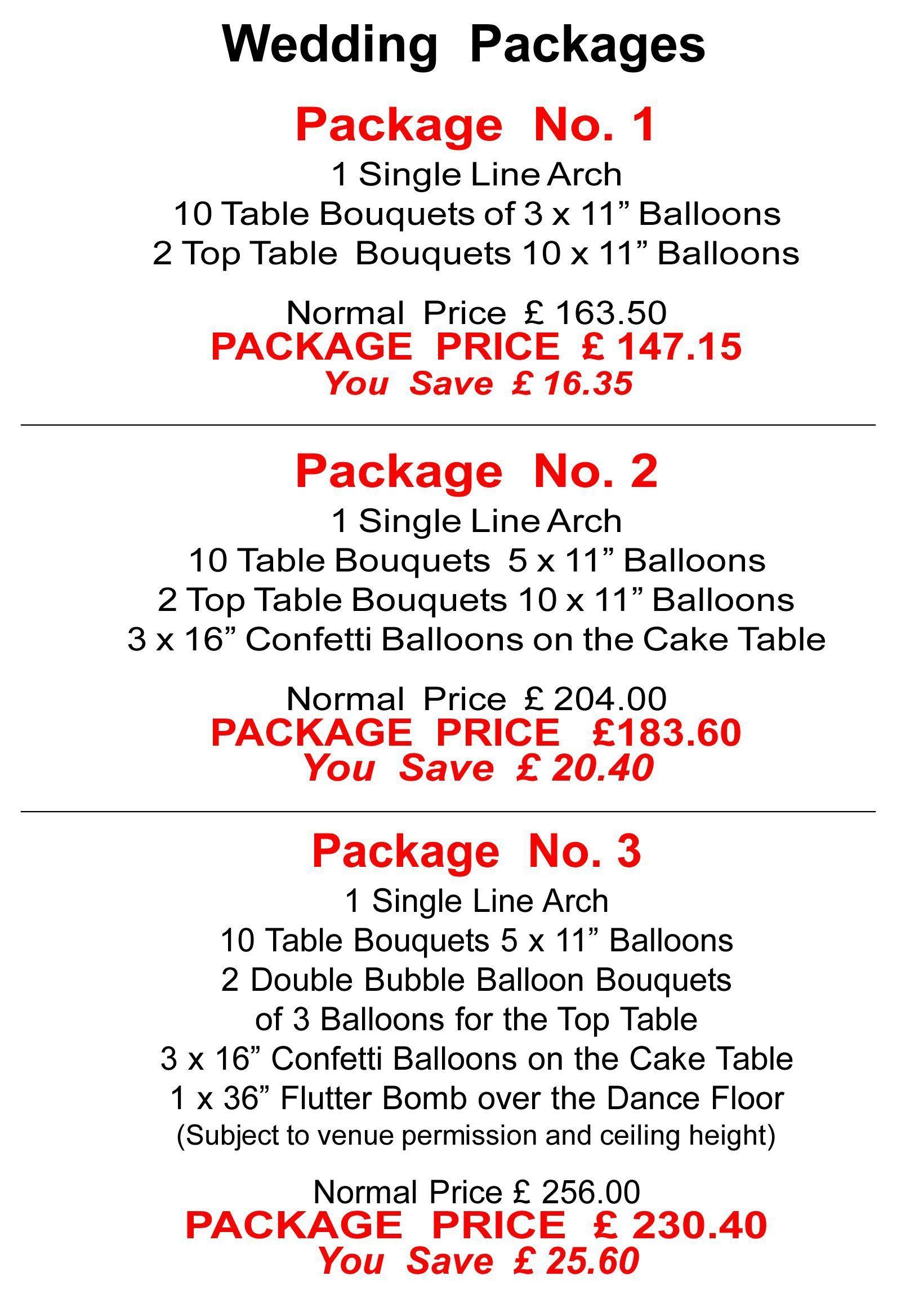 Balloon decor price list matthew lewis displays organic