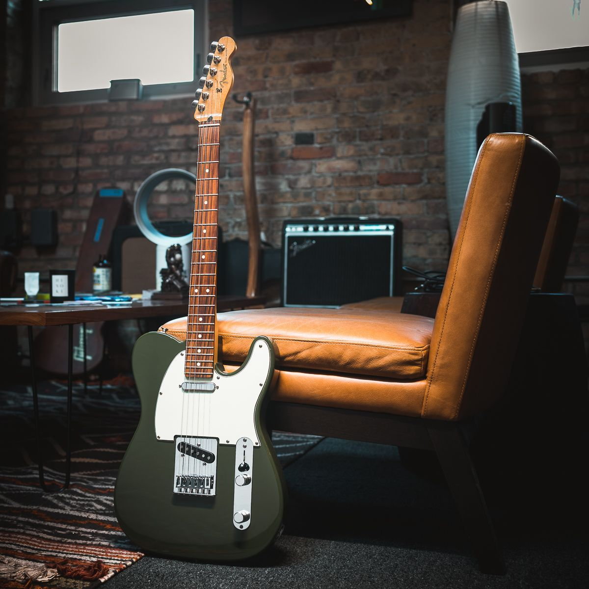 Fender Player Telecaster Olive w/3-Ply Mint Pickguard (CME Exclusive) #fenderguitars