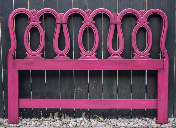 Raspberry Hot Pink Full Queen Headboard By Junquefurniture On Etsy 175 00