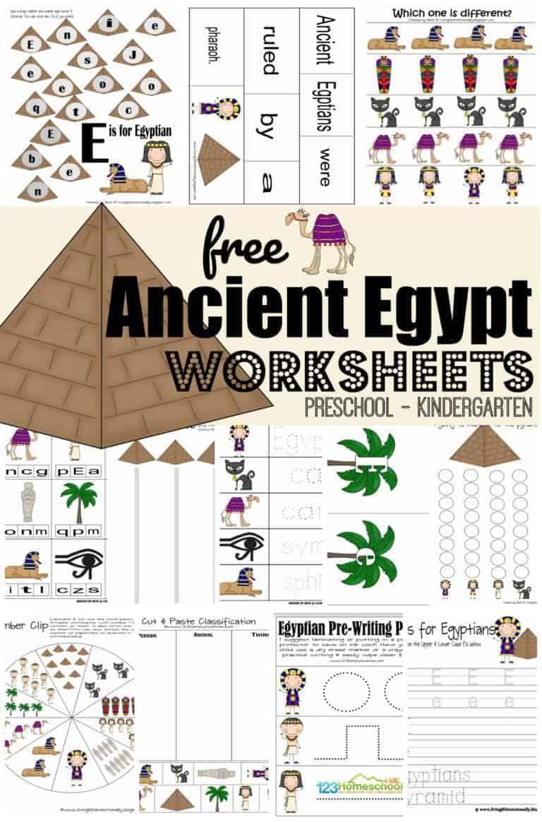 Free Printable Ancient Egypt Worksheets Egypte Thema Geschiedenis [ 1164 x 768 Pixel ]