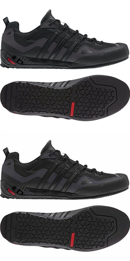 5afe2389f Adidas Outdoor Terrex Swift Solo Approach Shoe - Men s Black Black Lead 11
