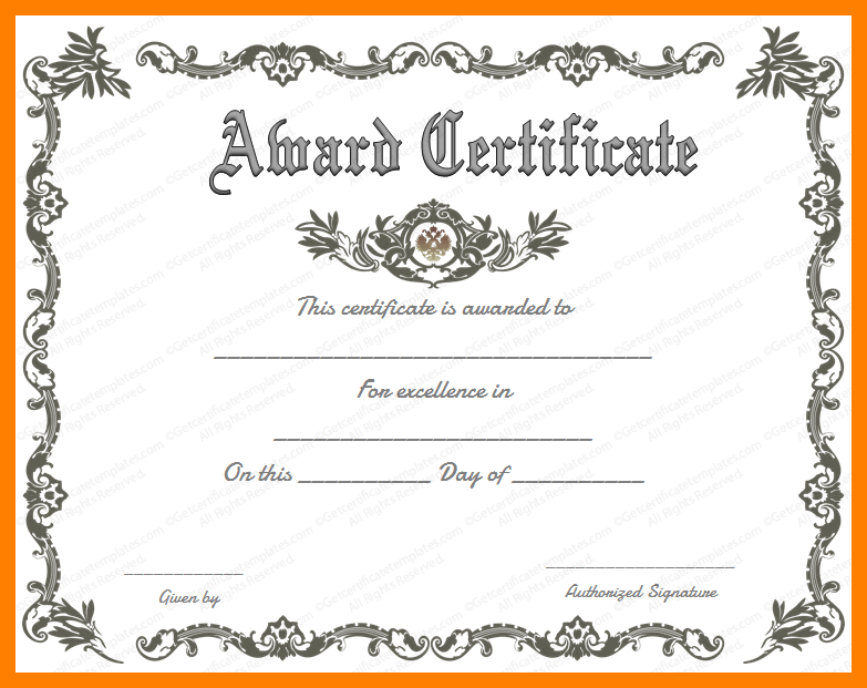 Fancy Certificate Template Fancy Certificate Template Fancy