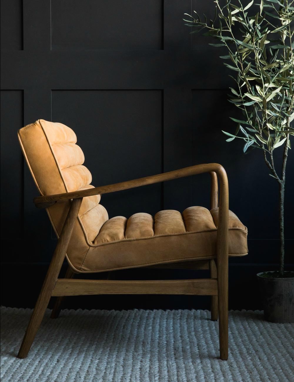 www.roseandgrey.co.uk mid-century-leather-armchair-tan in 7