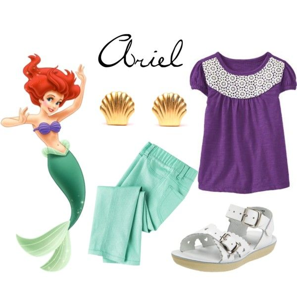 Ariel Inspired Casual Girl Outfit
