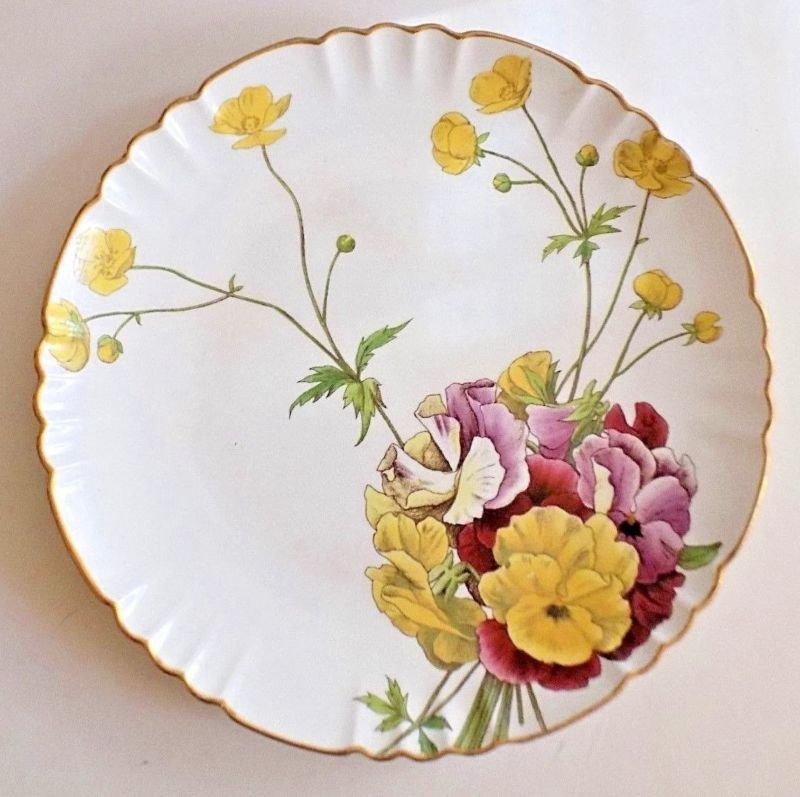 Antique Minton Plate Melrose - Pansies and Buttercups 8 1/2  & Antique Minton Plate Melrose - Pansies and Buttercups 8 1/2 ...