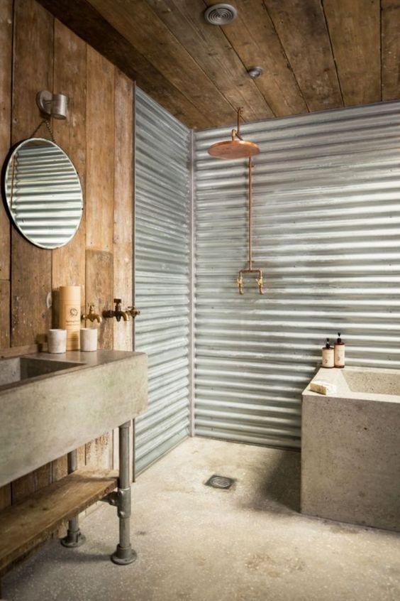 Diese 7 Materialien machen exklusives Interieur mit wenig Geld - schiebetür für badezimmer