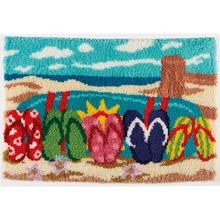 Beach Scene Latch Hook Rug Kit