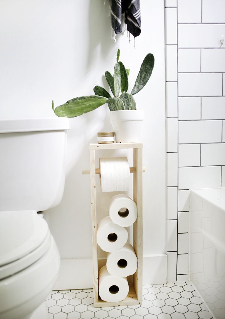 Diy Toilet Paper Stand With Images Diy Toilet Paper Holder
