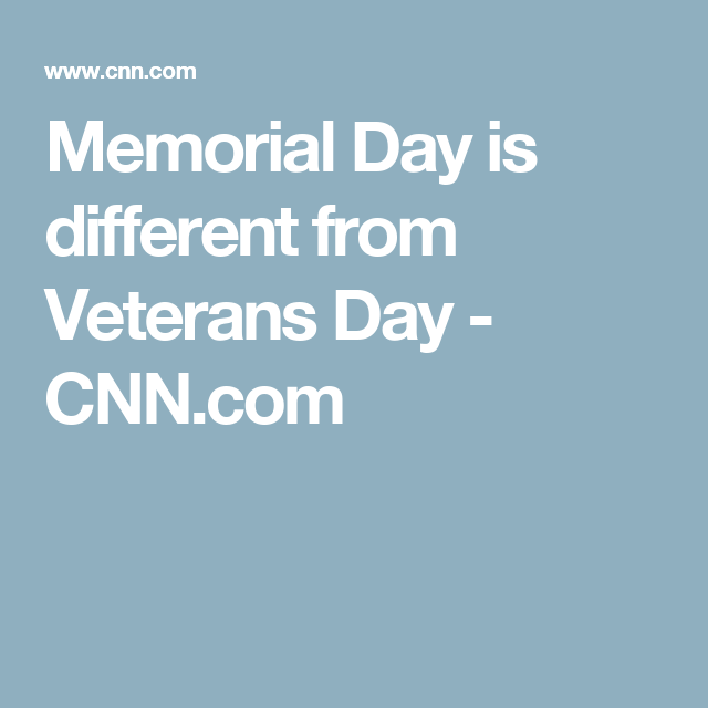 Get it straight: The difference between Veterans Day and ...