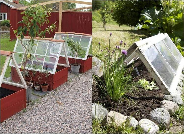 55 idées déco jardin – réutiliser les vieilles portes et fenêtres ...