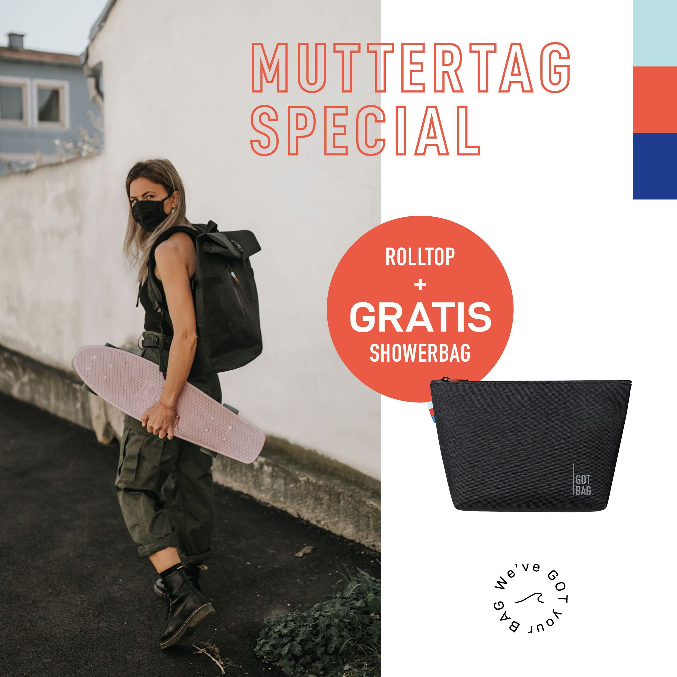 Sustainable Streetstyle Backpack + FREE Showerbag by GOT BAG