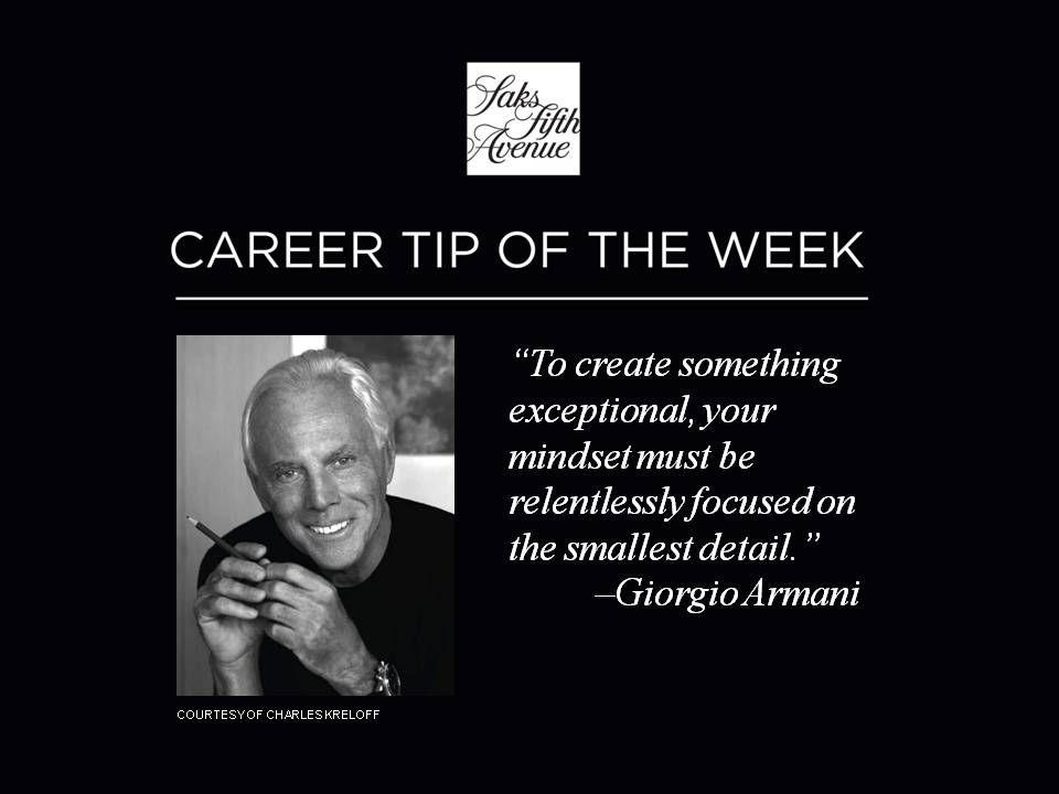 #CareersAtSaks #Career Tip of the Week!