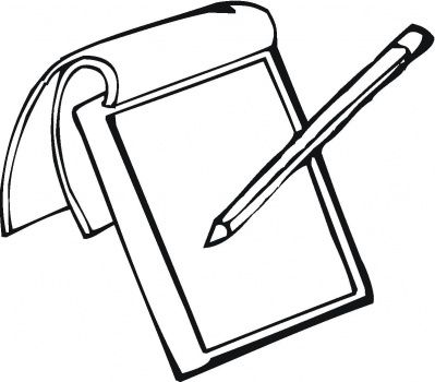 Notepad And Pencil Coloring Page Super Coloring Note Pad Free