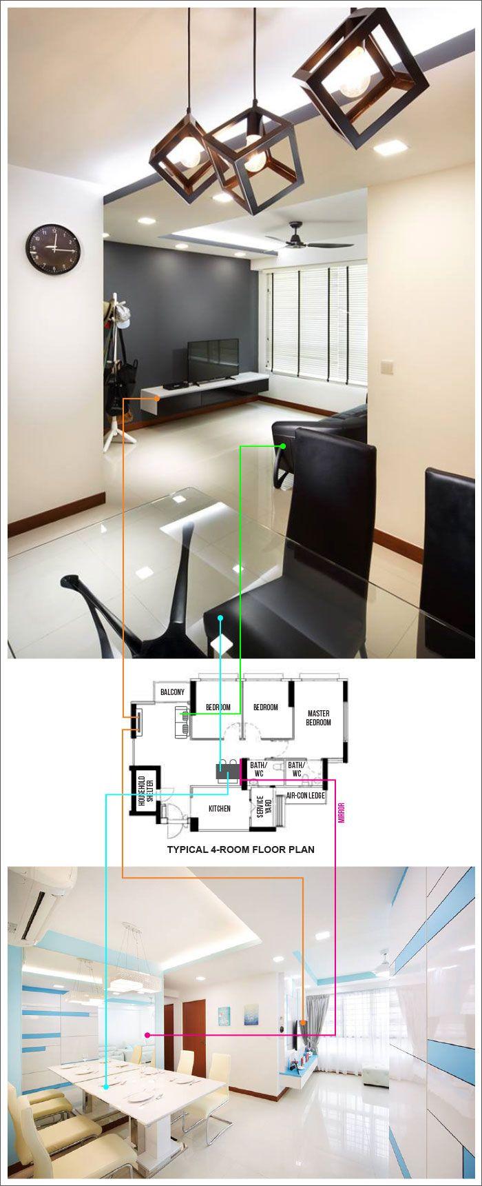 4 room bto master bedroom design   Creative Layout Designs for Compassvale Cape  Layout design