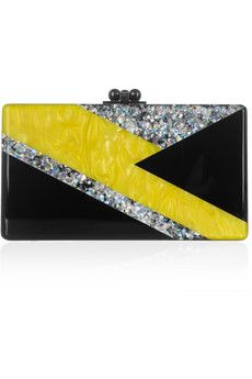 Ziggy glitter and pearl-effect box clutch by: Edie Parker @Annette Howard Nokes-a-Porter (US)