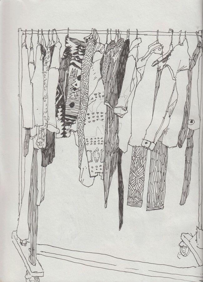 Sketch Your Closet ... Http://blog.needsupply.com/