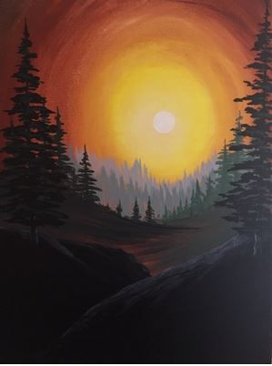 Late Afternoon in the Woods Monday, June 13 6:00PM Paint Nite