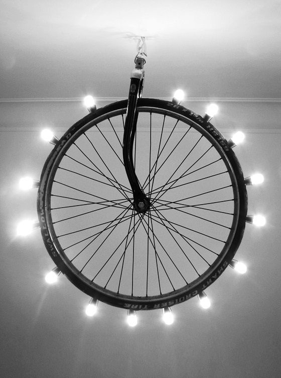 bike wheel bulbs pendant lamp ceiling