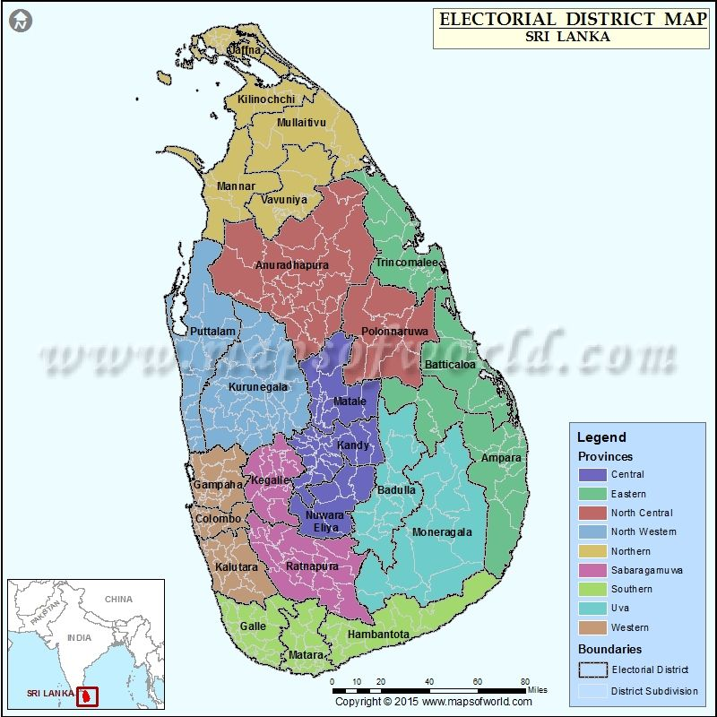 Electorial Districts map of SriLanka Elections 2015 Pinterest