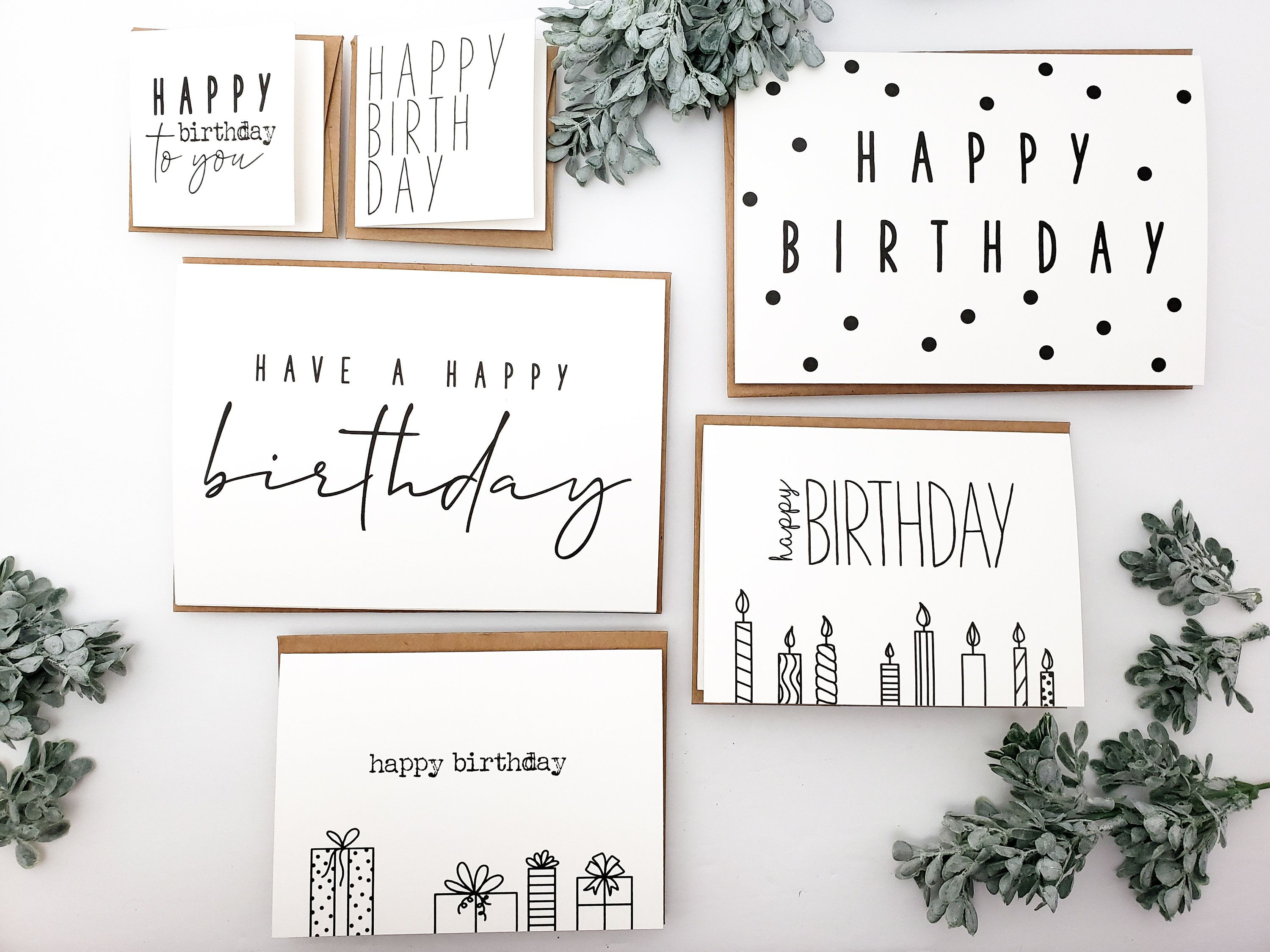 Birthday Card Variety Pack Simple Birthday Greeting Cards Pack Of Birthday Cards Minimalist Birt In 2021 Birthday Cards Greeting Card Packs Funny Christmas Cards
