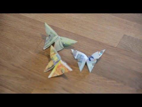 geldschein falten schmetterling geldgeschenke basteln origami tiere mit geld falten zur. Black Bedroom Furniture Sets. Home Design Ideas
