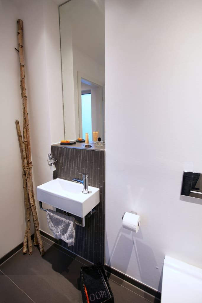 Minimalistische Badezimmer Bilder Gäste-WC - die schönsten badezimmer