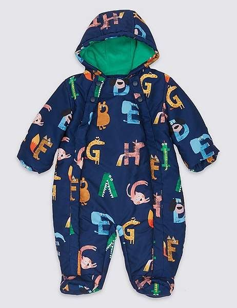 4bc51783f Marks and Spencer Letter Print Snowsuit with StormwearTM