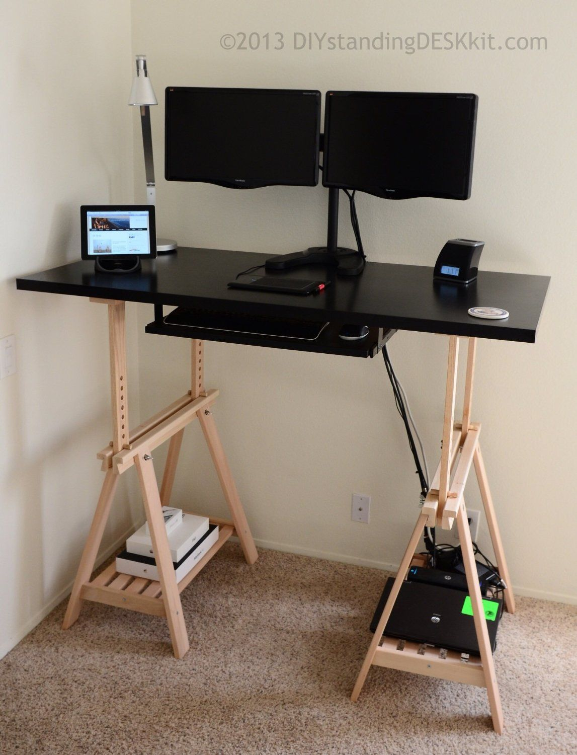 Diy Standing Desk Kit The Adjule Hight Stand Up Conversion Co Uk Kitchen Home