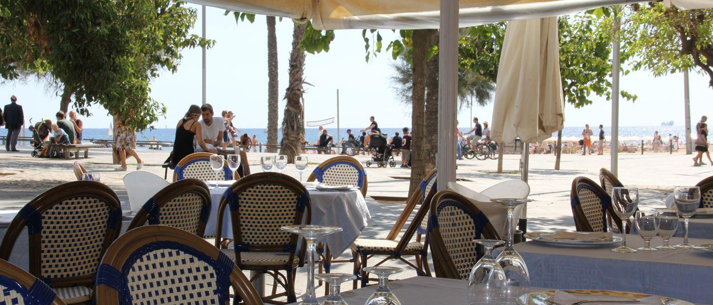 Restaurante Barceloneta Terraza Playa Summer Travel In