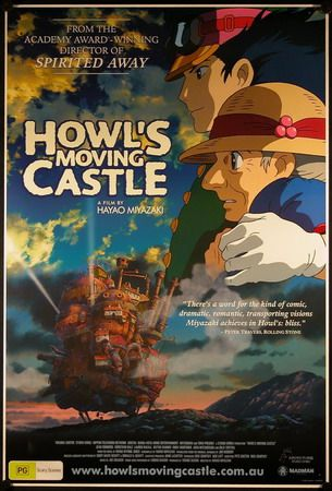 Howl S Moving Castle Film Poster 2004 Directed By Hayao Miyazaki Howls Moving Castle Howl S Moving Castle Movie Howl S Moving Castle