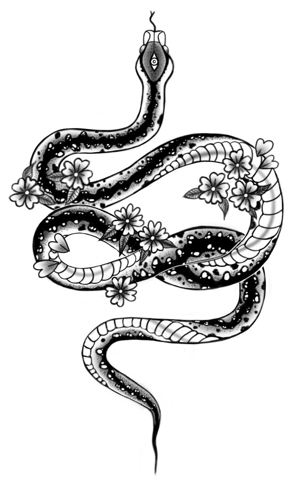 Snake Tattoo Designs Ellen Beuting Snake Tattoo Design Snake Tattoo Ankel Tattoos