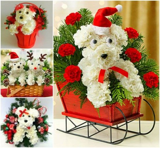 how to make a homemade christmas arrangement with fresh bows