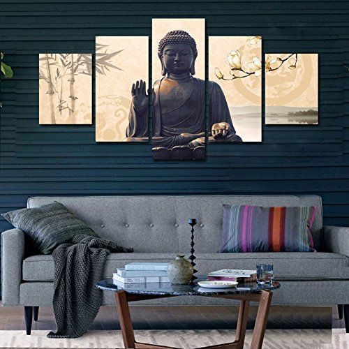 Schlafzimmer Buddha shuaxin large 5 buddha wall picture modern home decor