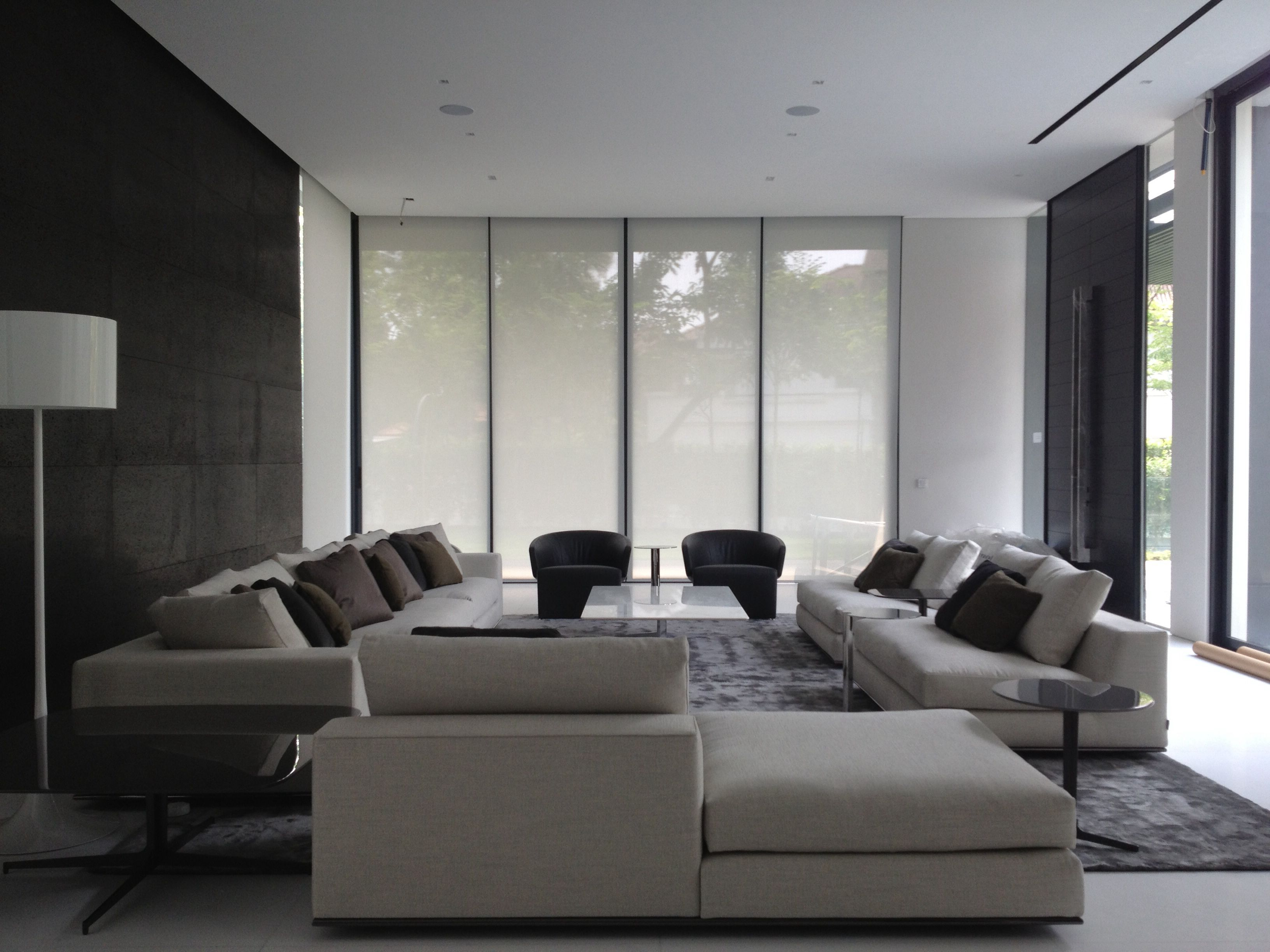 living room furnished with minotti  residential interior