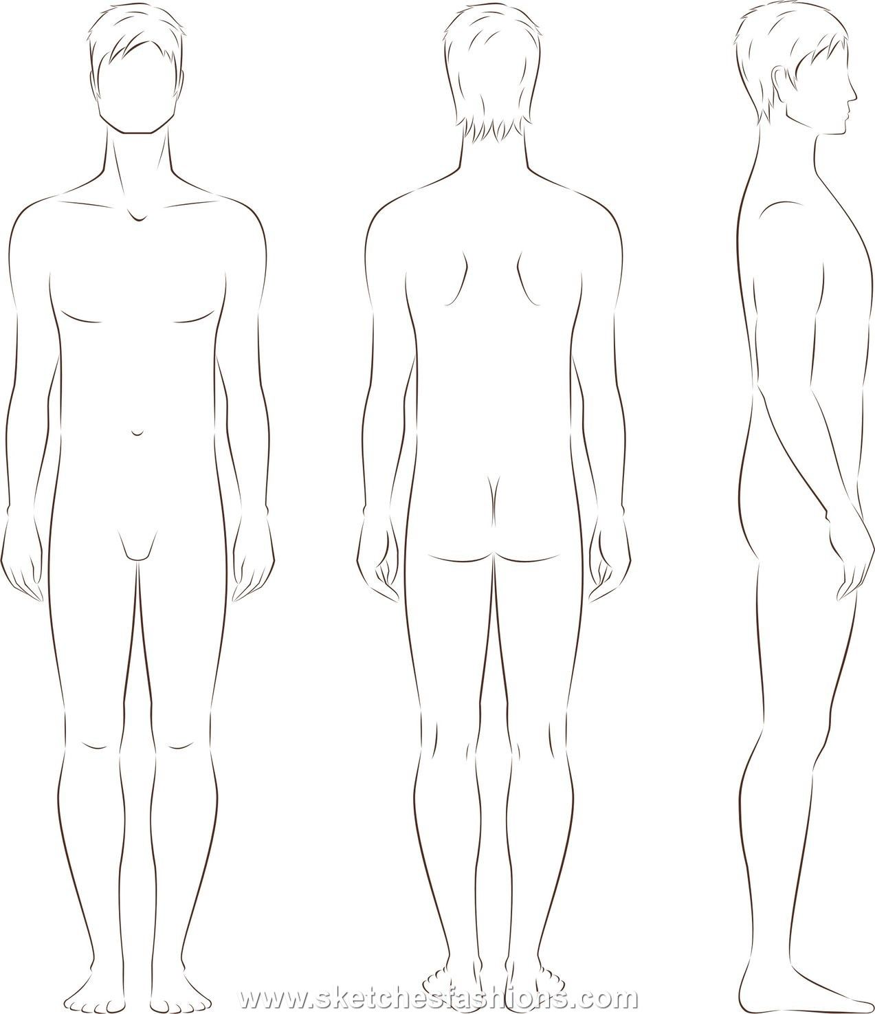 mens body proportion sketch | ART•Techniques•Instructions ...