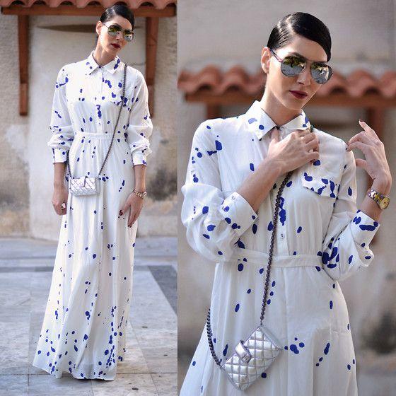 Dress, Chanel Purse, Sunglasses - Last night I lost the world, and gained the universe.. - Konstantina Tzagaraki