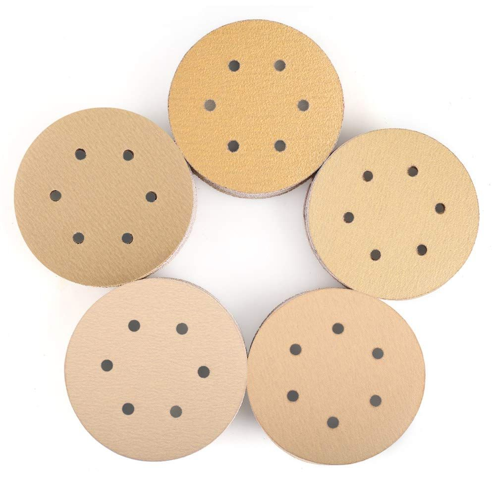 6 Inch 6 Holes Sanding Discs 100pcs 60 80 120 150 220 Grit Sandpaper Assortment Lotfancy Hook And Loop Random Orb Sanding Sandpaper Woodworking Projects Diy