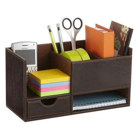 I Pinned This Small Leather Organizer In Black From The Stylish Desk Event At Joss Main Desk Organization Desktop Organization Safco