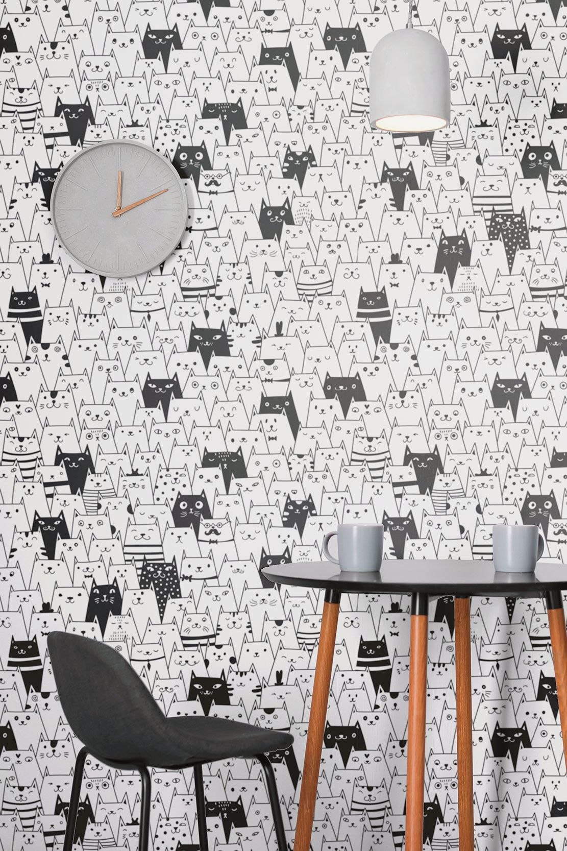 Black And White Geometric Animal Peel And Stick Removable Wallpaper 6188 Living Room Removable Wallpaper Removable Wallpaper Aesthetic Room Decor