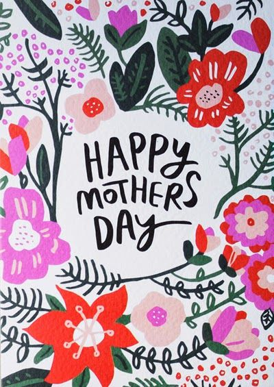 Print Pattern Happy Mother S Day Card Mother Day Wishes Mothers Day Images