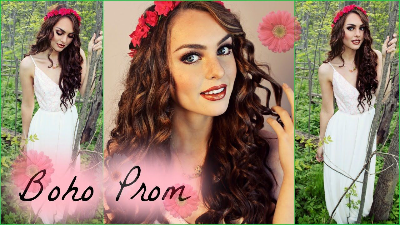 Get prom ready with me hair makeup dress - Boho Prom Makeup Hair Dress