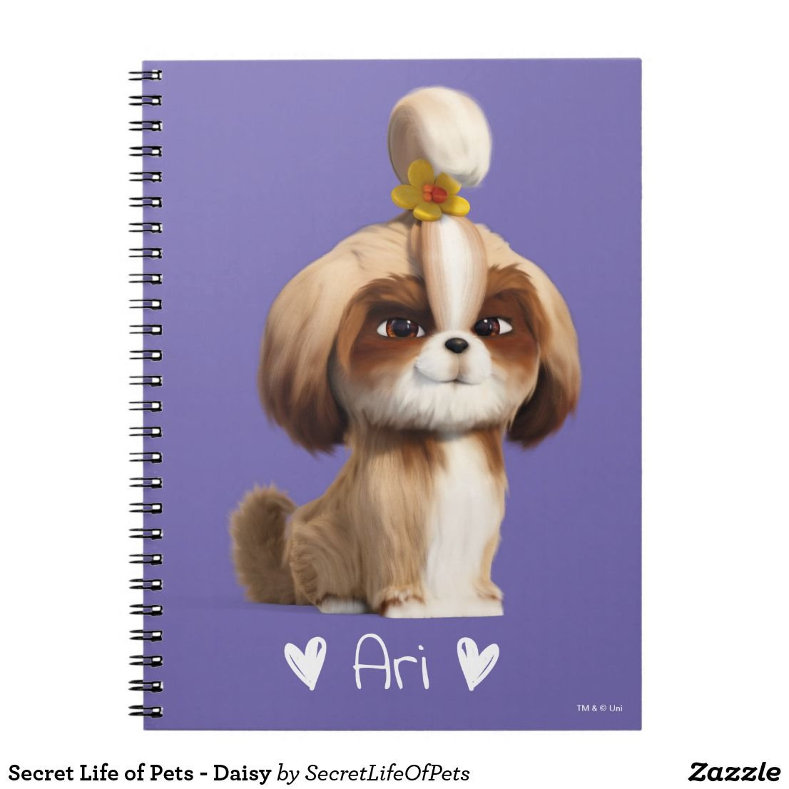 Create Your Own Spiral Photo Notebook Zazzle Com In 2020 Secret Life Of Pets Pets Movie Animal Party