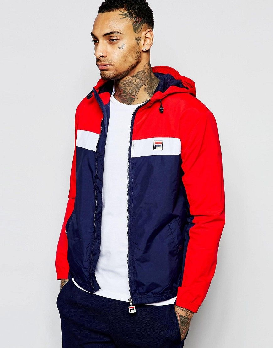 Image 1 ofFila Vintage Hooded Jacket With Panelling