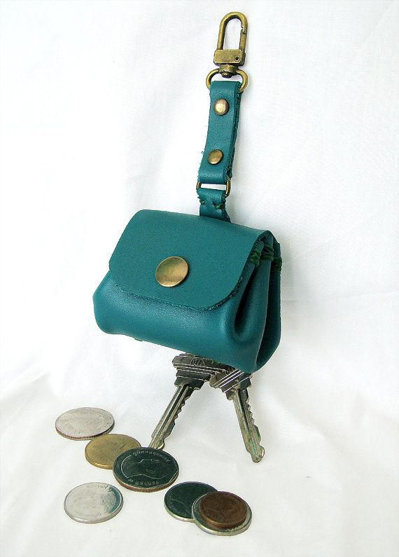 Leather KeychainLeather Mini Bag   Key Ring   by AccentHandicraft ... 6e705139a