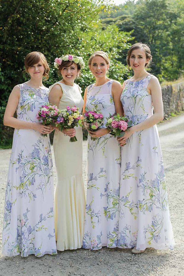 Rustic Glam With A Contemporary Twist Printed Bridesmaid Dresses