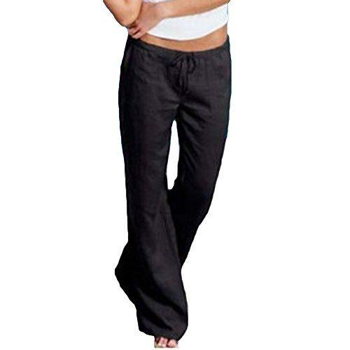 Photo of junkai sino bottoms mulheres cintura alta calças de yoga harem pants calças cintura elástica saia capri calças casuais calças confortáveis calças de verão calças de praia tamanho grande
